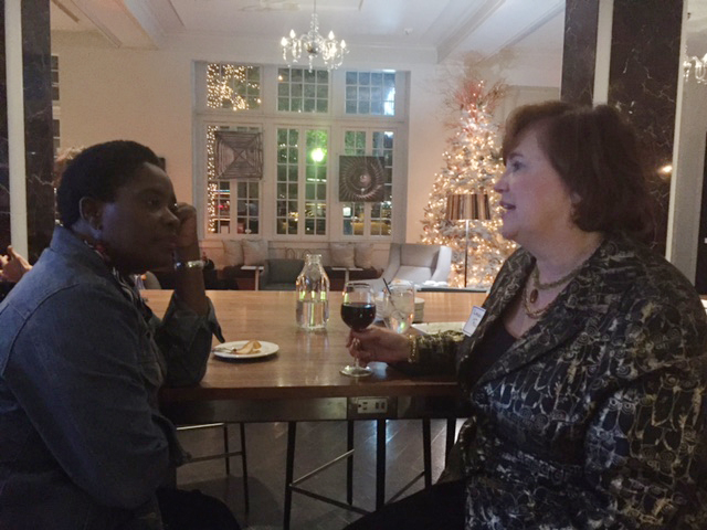 2015 Holiday Mixer: on left: New member Catherine Ogie- Lucas