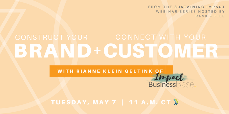 Graphic advertising the Counstruct your Brand and connect with your Customer event Tuesday, May 7, 11 a.m. CT